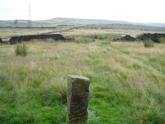 Gambleside Western Cross Marker Stone