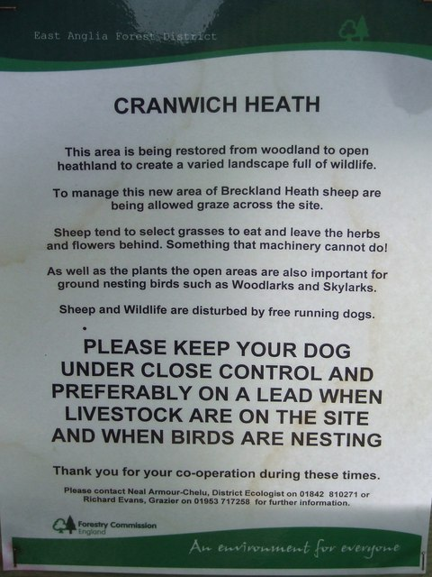 Notice At Cranwich Heath