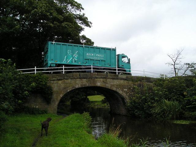 Waggon crossing Canal Bridge near Cockerham