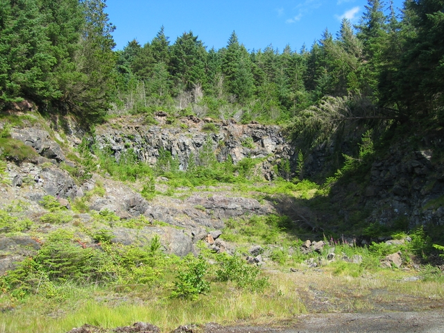 Forestry quarry at Eynort
