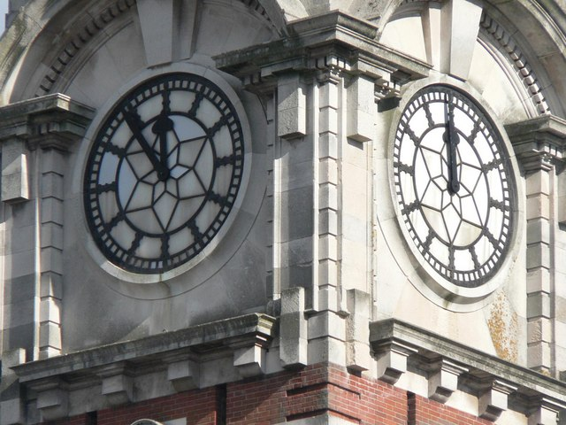 The Lansdowne clock tower: clock detail