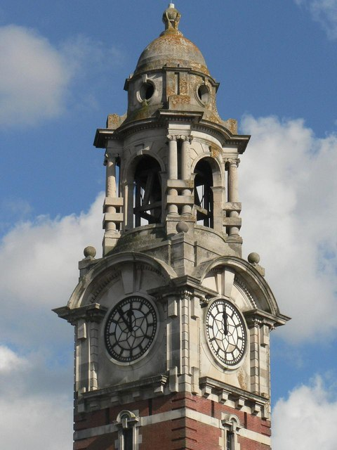 The Lansdowne clock tower: detail