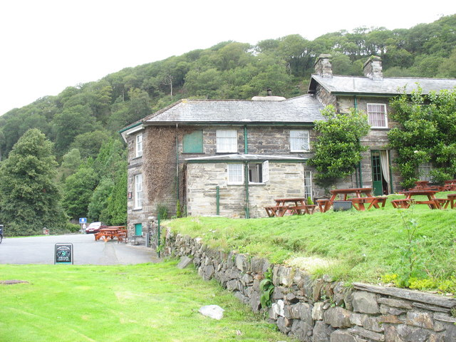 The east wing of The Oakeley Arms, Tan y bwlch