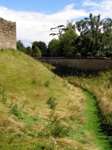 The moat, Sherborne Old Castle