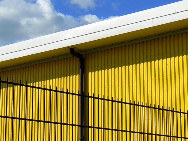 Detail, west elevation, Big Yellow Self Storage Co. Drakes Way, Swindon
