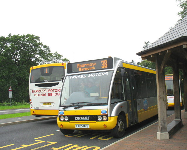 A busy time at the Tan y bwlch Bus Interchange
