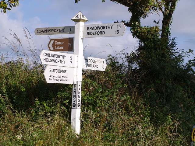 Signpost at Jenns Cross