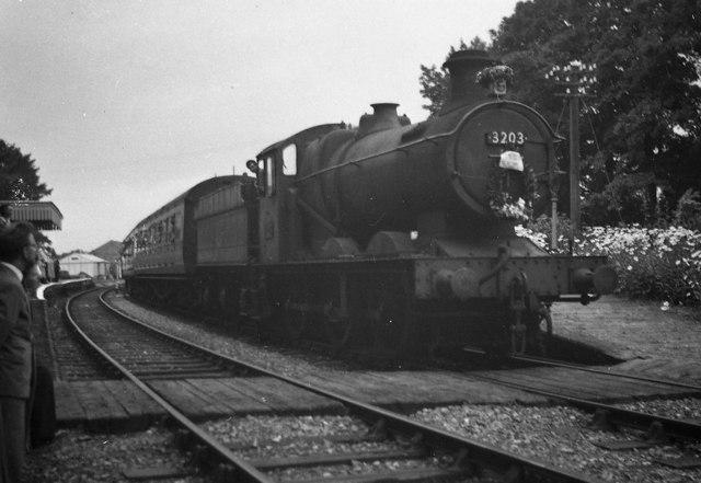 Last Passenger train at Newent Station.