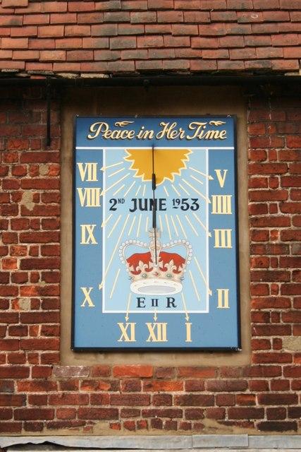 Coronation sundial