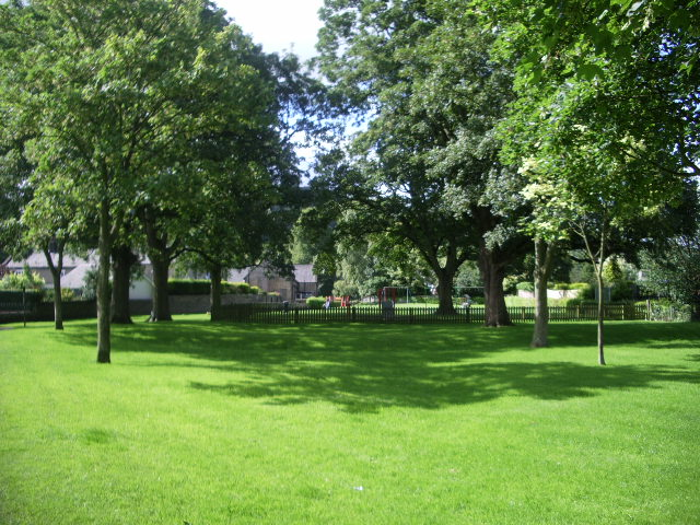 Small park with play area, Whalley