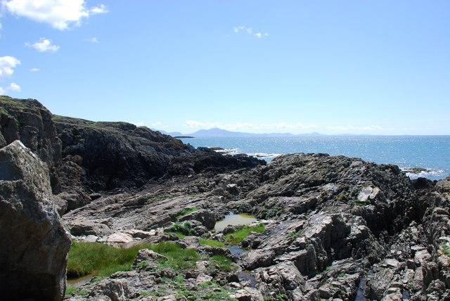 Anglesey's rocky coastline