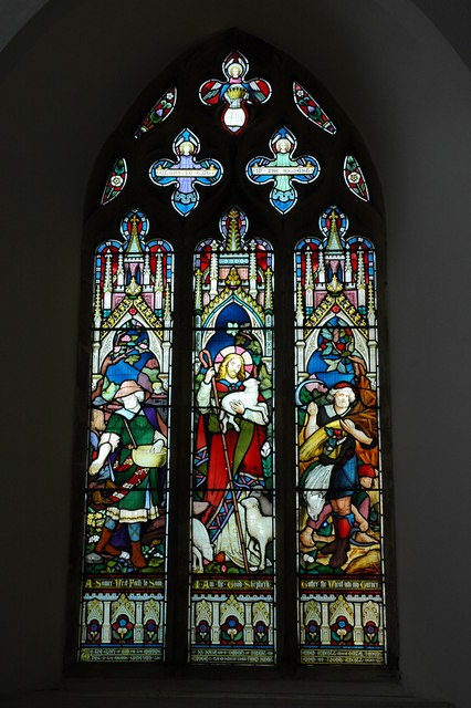 Stained-glass, Whichford Church