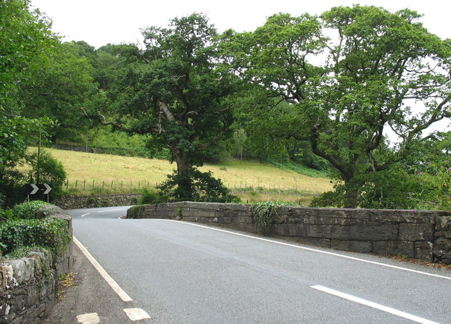 Pont Felinrhyd-fawr bridge on the A496