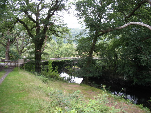 Pont Felinrhyd-fawr bridge from the forest path