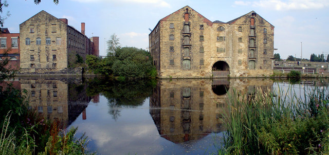 Warehouses by the River Calder