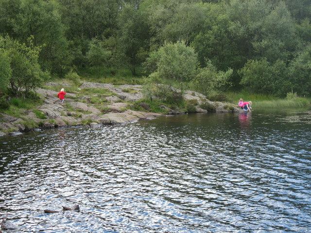 The SE shore of Dumbrock Loch