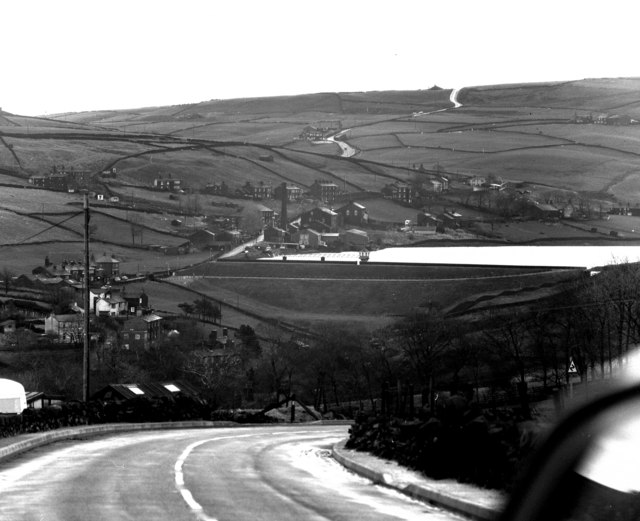 Leeming village and reservoir, Yorkshire