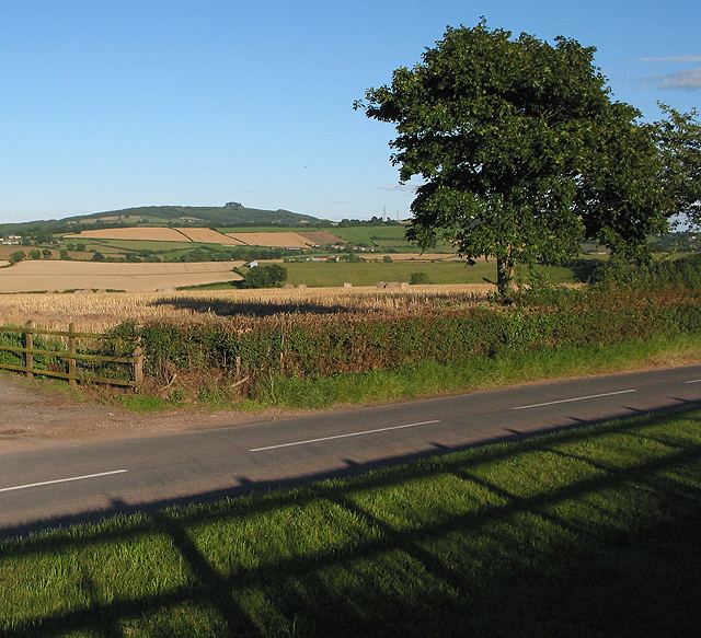 View across the fields to May Hill