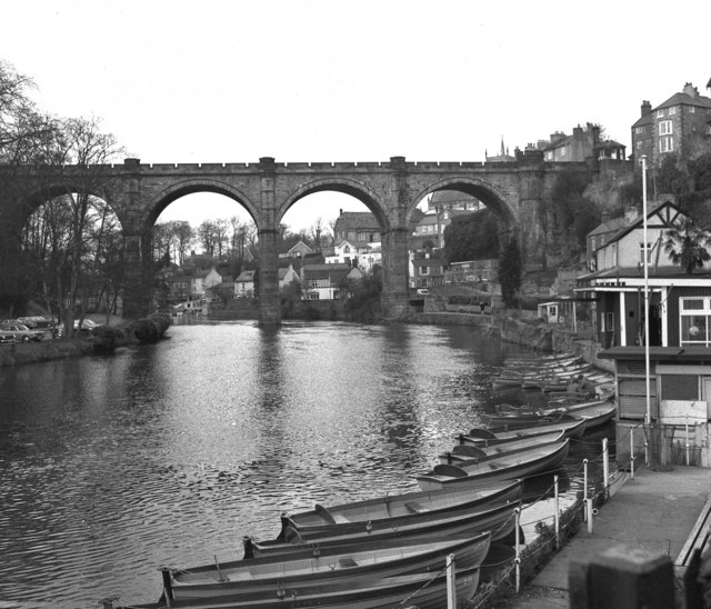Railway viaduct and River Nidd, Knaresborough