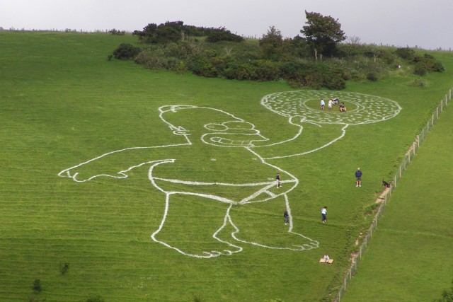 Giant Homer Simpson on Giant Hill, Cerne Abbas