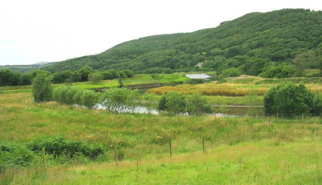 Reclaimed marshland in the Dwyryd Valley