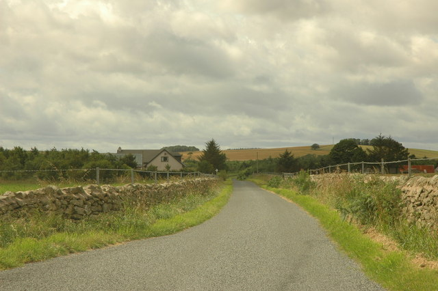 House and road near Kirkton of Logie Buchan