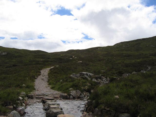 West Highland Way crossing Allt a' Choire Odhair-bhig
