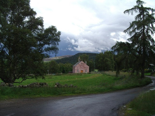 Converted Church at Knockan at the foot of Glen Feardar