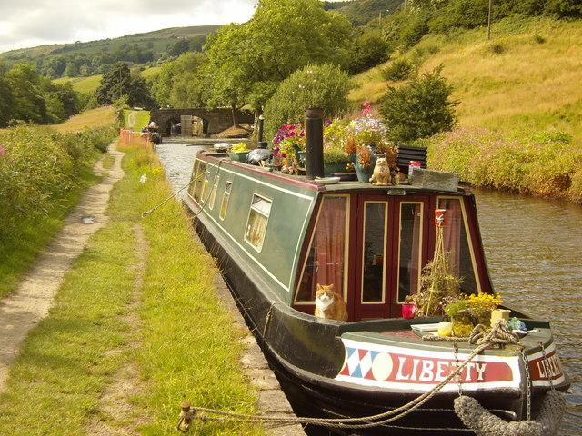 Rochdale Canal approaching Brierley Locks