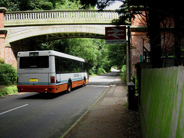 Bus under, rail over: Roughton Road station, Cromer