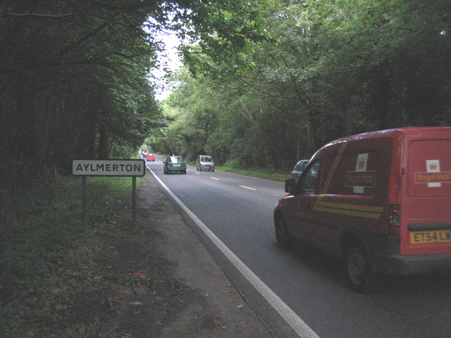 An attractive section of the A148 near Aylmerton
