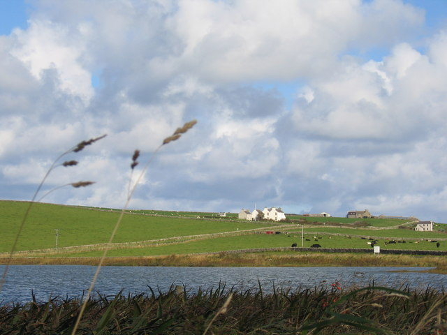 Kierfiold House and Loch of Skaill