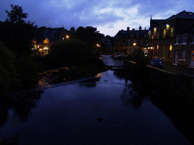 Marsden Weir in late evening