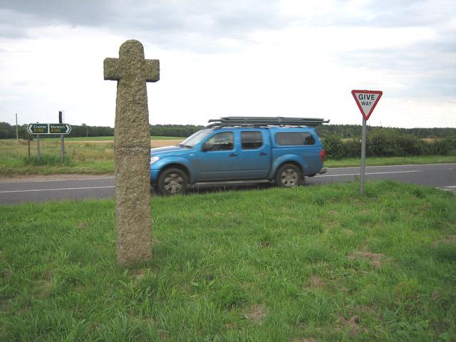 Hanworth Cross on Cromer - Norwich road A140
