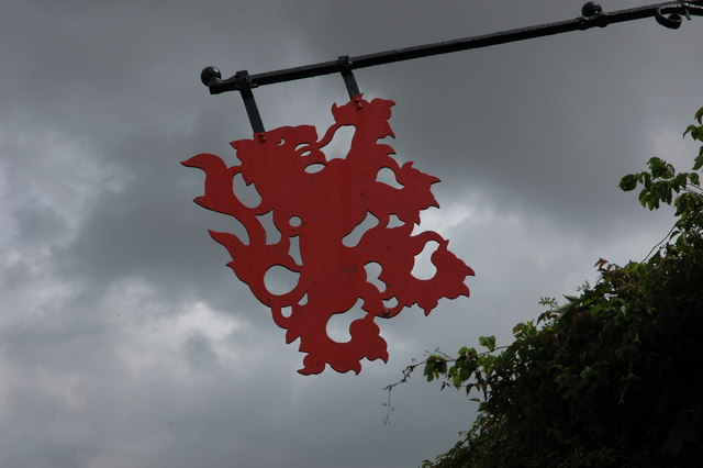 Red Lion inn sign