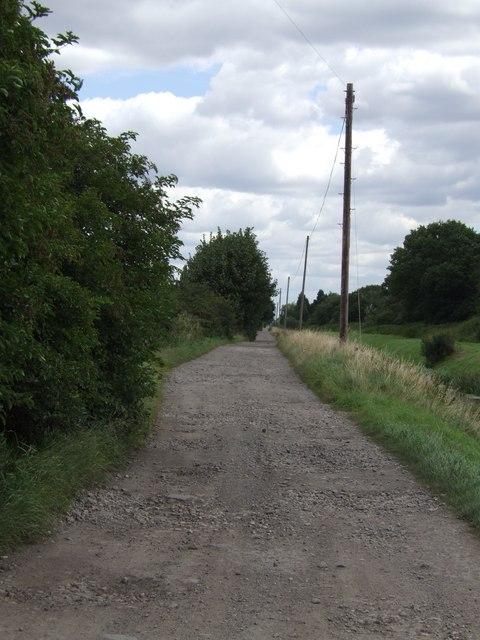 Track by Moor Farm