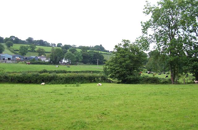Farmland near Llanddewi-Brefi, Ceredigion
