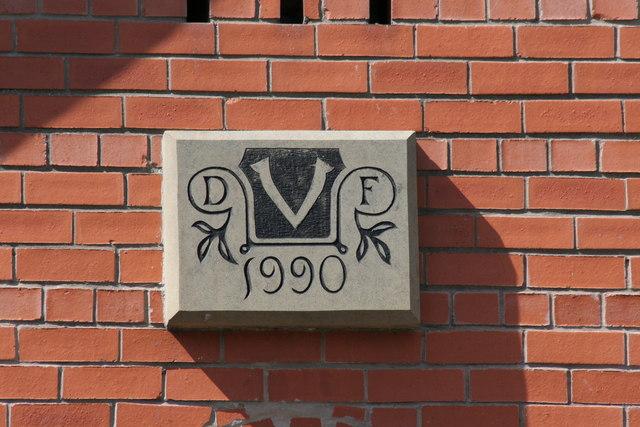 Year Stone on Dodleston Village Hall extension