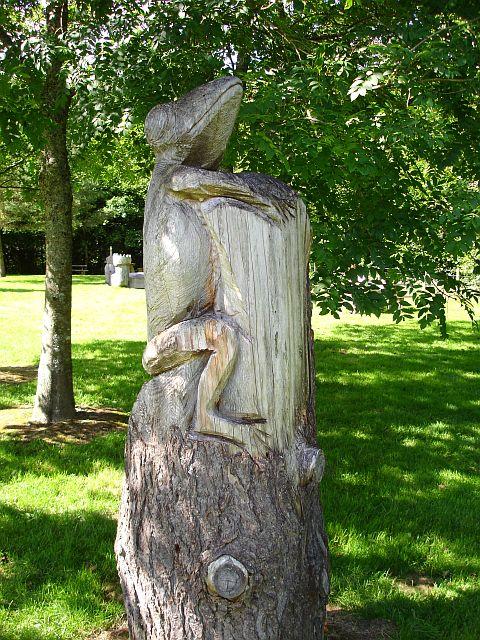 Carved frog