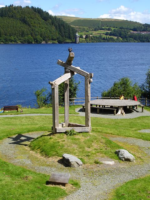 Sculpture at Lake Vyrnwy