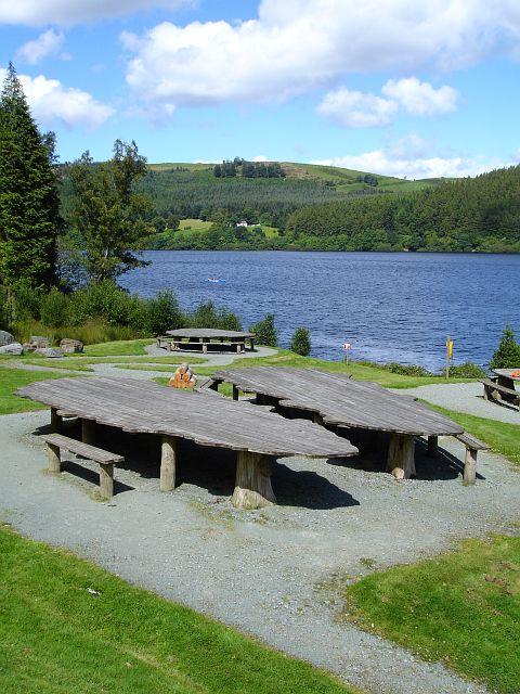 Picnic area, Lake Vyrnwy