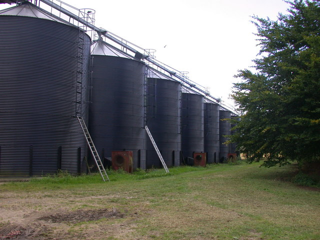 Grain silos at Morden Grange Farm
