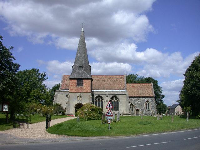 Steeple Morden church and churchyard