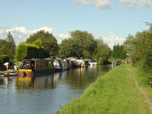 Canal Moorings on the Trent and Mersey Canal near Buckford Bridge