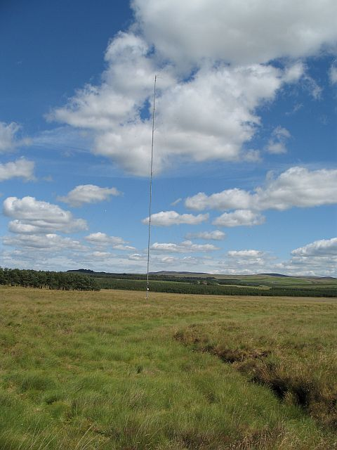 Wind survey mast, Stallashaw Moss