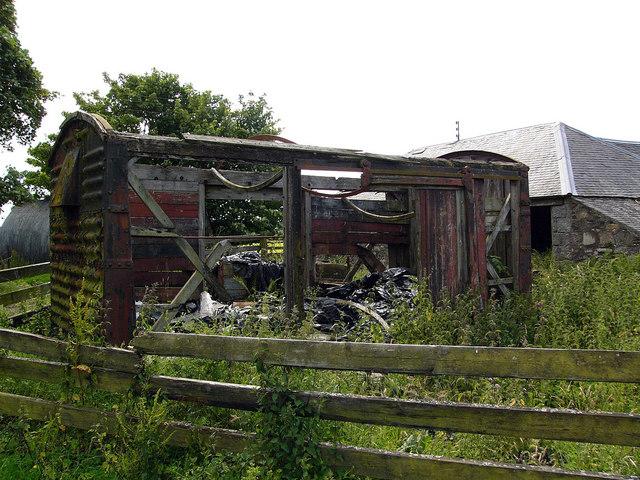 Old railway goods van, Airyligg Farm
