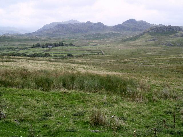 Looking Eastwards over Birker Fell
