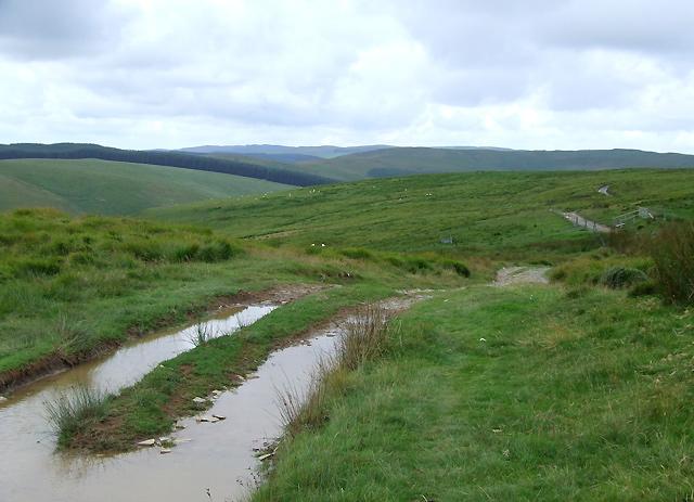 Drovers' Road west of Soar y Mynydd, Ceredigion