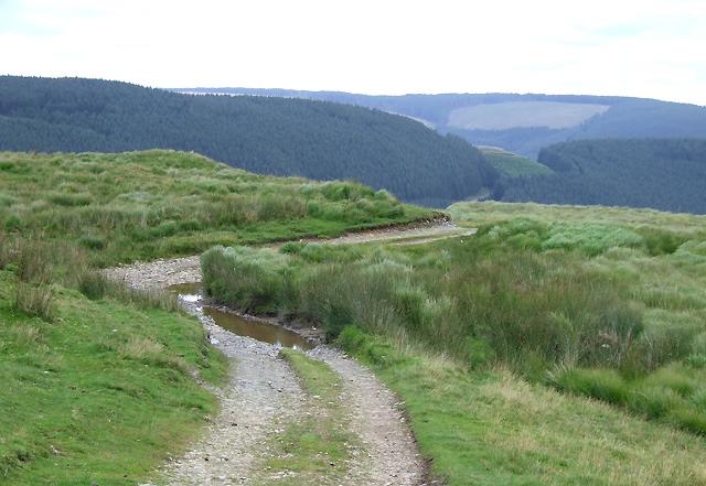 Drovers' Road approaching Soar y Mynydd, Ceredigion
