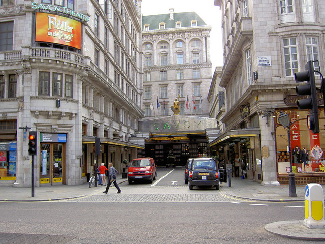 The Savoy Hotel front entrance.